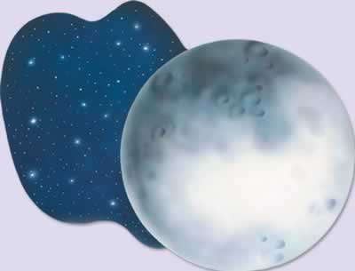 Moon Cutout Party Accessory (1 count) - 1