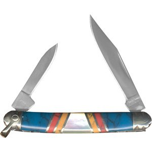 Schrade 804Jtp Classic Uncle Henry Turquoise Pearl Journeyman