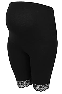 Womens Bump It Up Maternity Cotton Elastane Legging Shorts With Comfort Panel