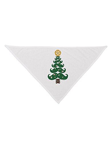 "Tooloud Mustache Christmas Tree Printed White Dog Bandana 26"""