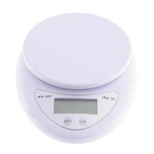 Balance Electronique Digital LCD Ecran Cuisine Alimentaires 5 kg x 1 g Compact échelle 11 lb x 0,04 oz