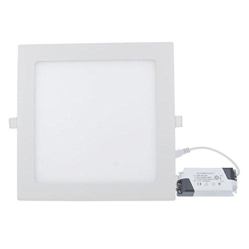 Lemonbest High Power 18 Watt Dimmable Led Panel Light Square Recessed Lighting Fixture Kit, Warm White
