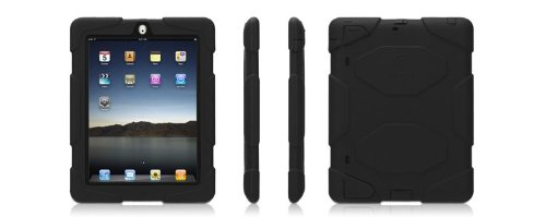 Griffin Survivor Military Duty Case with Stand for iPad 2 & iPad 3, Black