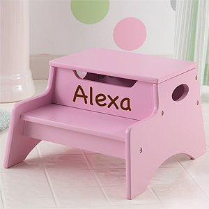 Personalized Girls Step Stools - Pink from PersonalizationMall.com