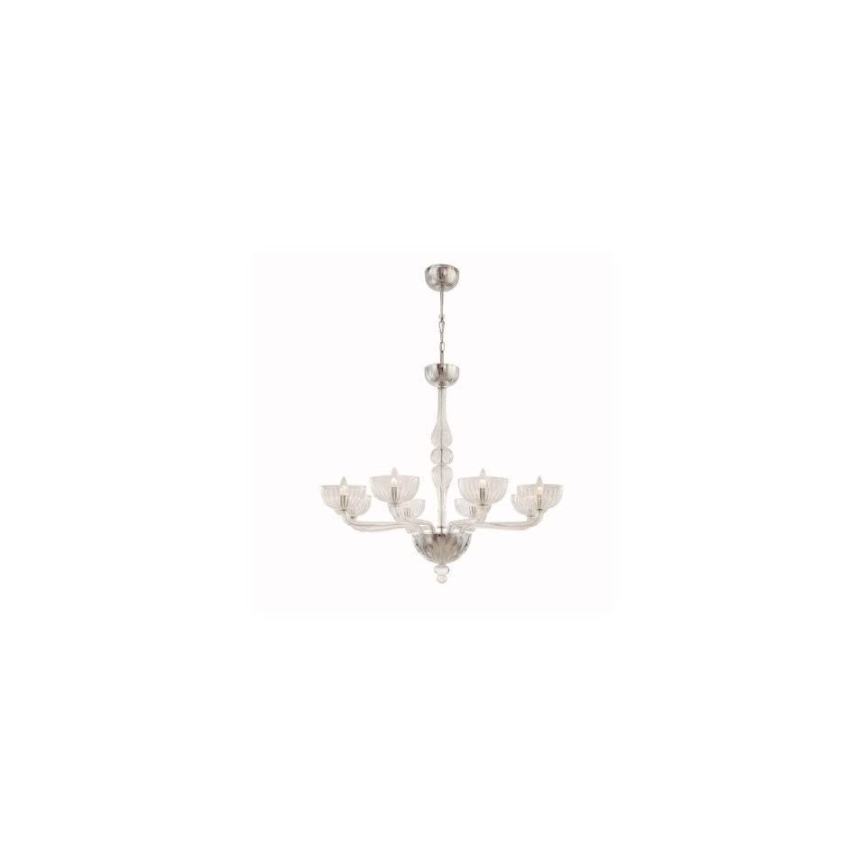 Hampton Bay Ariel Collection 8 light 88 1/2 In. Hanging Chrome Chandelier