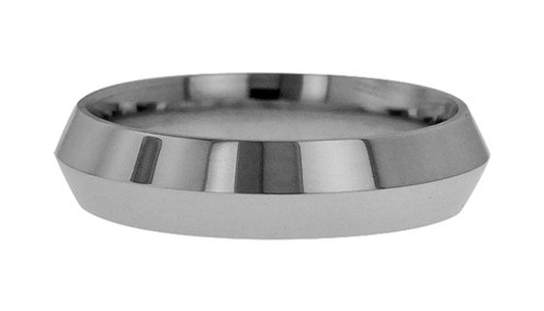 Wedding Bands; Platinum Knife Edge Wedding Bands Men`S And Women`S 7Mm Wide Comfort Fit