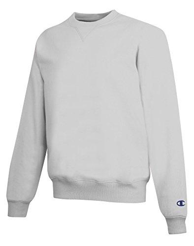 Champion Men's Max Crewneck Full Athletic Fit Sweatshirt, silver gray, Large (Champion Sweatshirt compare prices)