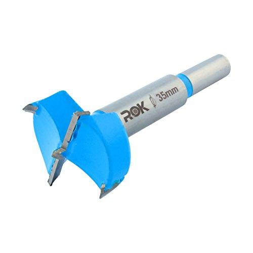 Rok Hardware 35mm Hinge Boring Forstner Drill Bit, Blue ROKB