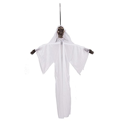 [FastTop Halloween Decoration Hanging Ghost with Red Light up Eyes] (Adult Floating Ghost Halloween Costumes)