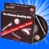 Ultimate Bending Set Magic Trick - Includes DVD - Watch and Learn: Bend a Spoon, Fork, Nail, and Coin