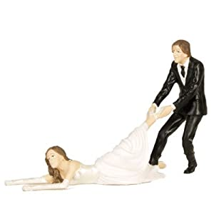 Click to buy Wedding Reception Decoration Ideas: Run Away Reluctant Bride Wedding Cake Topper from Amazon!