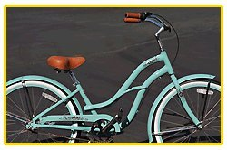 Aluminum Alloy Anti-Rust Frame, Fito Brisa Alloy 3-speed - Sky Blue, women's Beach Cruiser Bike Bicycle, Shimano Nexus Equipped