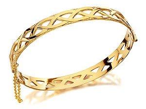 Rolled Gold Celtic Weave Bangle