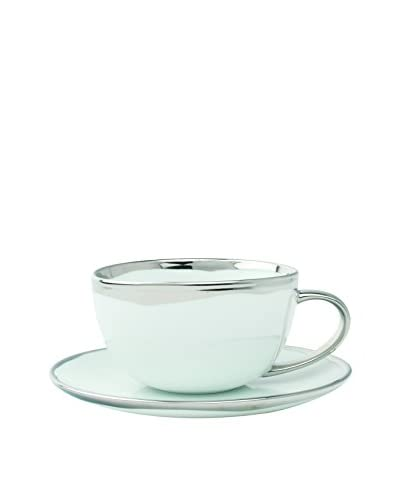 Canvas Home Dauville 2-Piece Cup & Saucer Set in Platinum