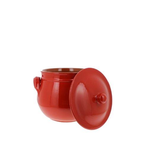 Coli Bakeware Cl14Rd--C40 Italian Ceramic Round Dutch Oven, 2.5-Quart, Red