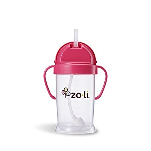 ZoLi BOT XL Straw Sippy Cup (Pink) - 9 oz.