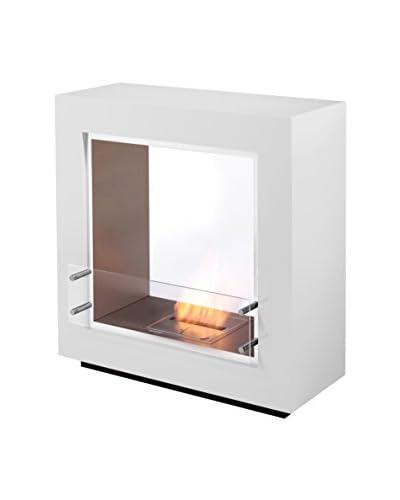 EcoSmart Fire Fusion Fireplace, White
