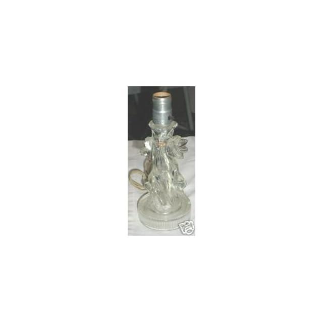Vintage Depression Era Glass Dresser Lamp