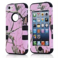 Superbpag(Tm) 3 In 1 Hot Silicone Pine Pattern Impact Cover Case For Iphone5C Grass Black