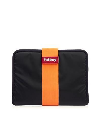 Famous Beanbag Maker Tablet Tuxedo, Black/Orange