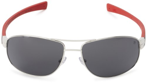 Tag Heuer LRS 252 102 Aviator Sunglasses,Black & Red,63 mm