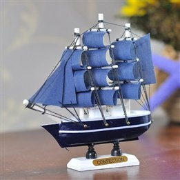 Children'S Toy 14Cm Mini Handmade Wooden Sailing Model For Eastern Mediterranean Style Study Room Decoration Decorations front-1023245