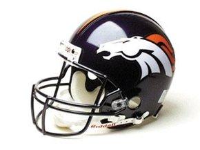 Denver Broncos Riddell Full Size Replica Helmet - NFL Replica Helmets by Sports Memorabilia