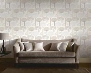 Bernwood Wallpaper - Cream by New A-Brend