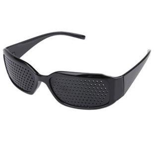【千鳥市場】 疲れた目をリフレッシュ! 遠近兼用 ピンホールメガネ スリムタイプ 袋付き!
