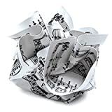 Crumpled Paperweight SHEET MUSIC for Office Desk Home Decor MoMA Collection