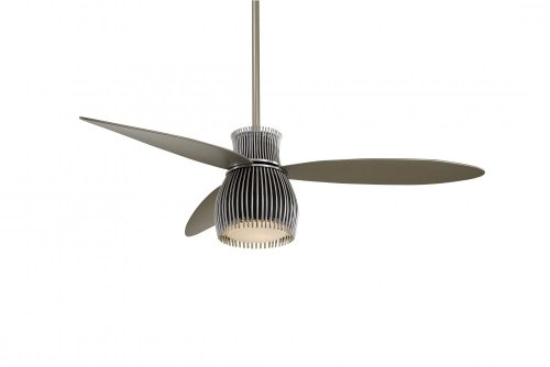 Minka Aire F824-BK/CH Uchiwa 56 in. Indoor Ceiling Fan - Black/Chrome