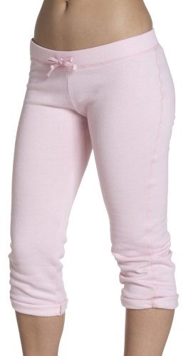 Soffe Juniors' Fleece Roll Up Capri, Soft Pink, Small
