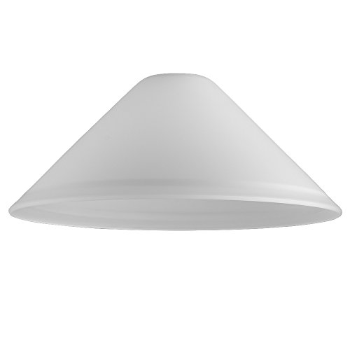 modern-white-frosted-glass-tapered-ceiling-light-shade