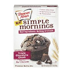 Duncan Hines Simple Mornings Triple Chocolate Chunk Muffin Mix 18.2 oz (Pack of 2) (Simple Mornings Muffin Mix compare prices)
