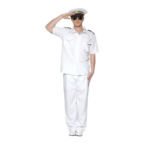 Men's OFFICER AND A GENTLEMAN Outfit * Captain Costume Fancy Dress (One Size)