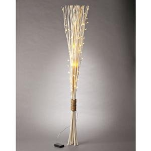 Prelit Art Christmas Trees - Gerson 38622 - 48&quot; Bleached Straight Willow Battery Operated LED Lighted Branch with Timer (60 Warm