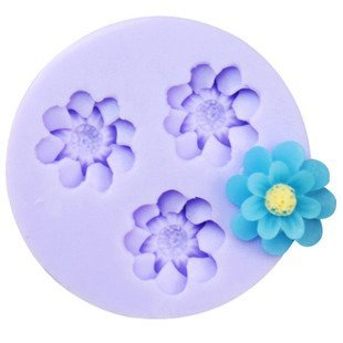 Jade Onlines 1.8Cm Small Flowers Silicone Fondant Sugar Pudding Diy Cake Cookie Mini Craft Mold