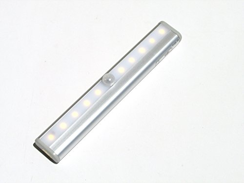 Stanlite - Led Light Bar, Motion Sensor Detector Night Light Closet Under Cabinet Nightlight - Battery Operated (Warm White)