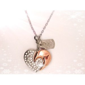 High Quality 8 GB heart Shape Crystal Jewelry USB Flash Memory Drive Necklace (SILVER) from T &  J