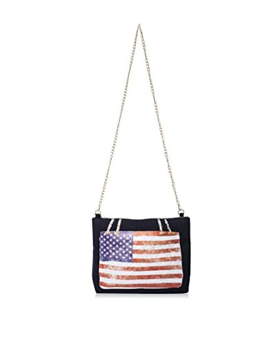Thursday Friday Women's Anywhere Maxi US-Flag Cross-Body, Multi/Black Canvas As You See