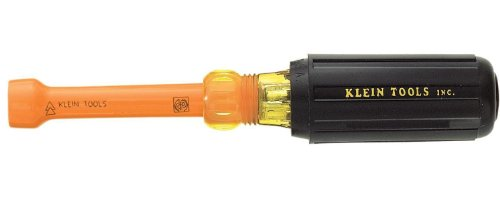 Klein Tools 630-1/2-Ins 1/2-Inch Insulated Cushion-Grip Hollow-Shaft Nut Driver