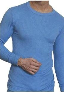 Football Thermals : OCTAVE® Mens Thermal Long Sleeve Vest [Light Blue, Ex-Ex-Large]