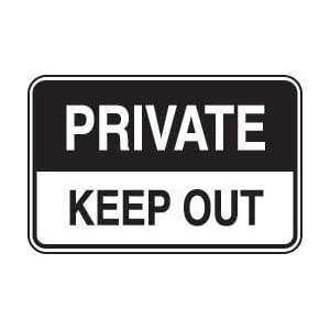 Private Property Sign - Keep Out: Industrial Warning Signs ...