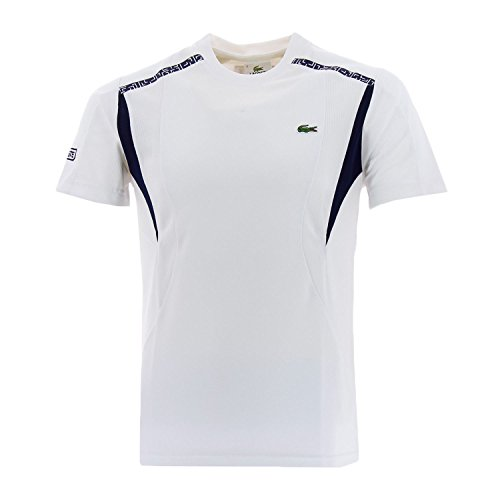 Lacoste Technical Knit Men's T-Shirt White/Navy th2305-51-522 (Size S)