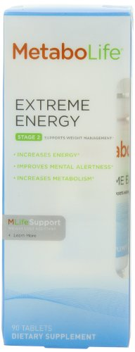Metabolife MetaboLife Extra Energy, Stage 2, 90-Tablets