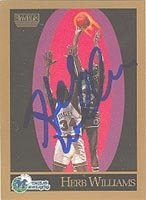 Herb Williams Dallas Mavericks 1990 Skybox Autographed Hand Signed Trading Card -... by Hall+of+Fame+Memorabilia