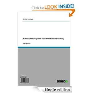 Multiprojektmanagement in der �ffentlichen Verwaltung German Edition eBook Christian Lenzinger
