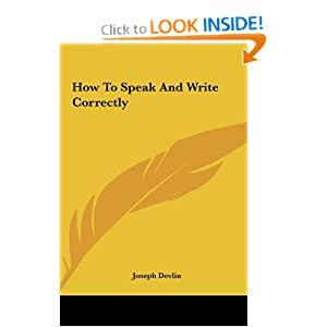 How To Speak And Write Correctly e-book