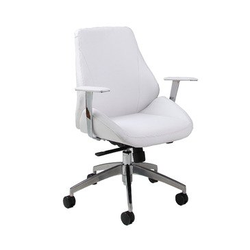 Pastel Isobella Office Chair - Chrome & Aluminum - Pu Ivory