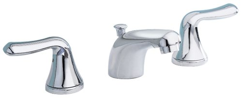 American Standard 3875.509.002 Colony Soft Double-Handle Widespread Lavatory Faucet With Lever Handles, Polished Chrome